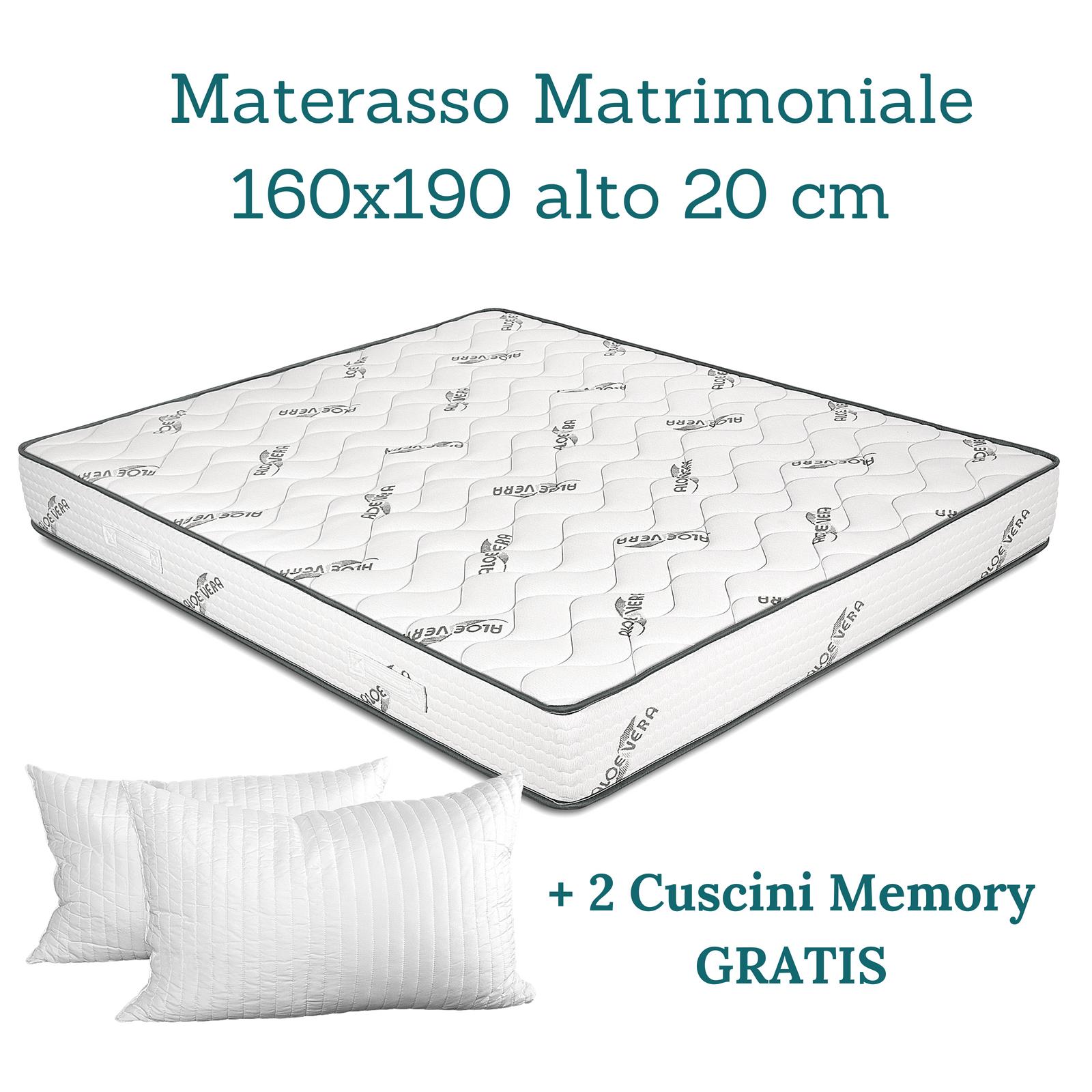 Offerte Materassi In Memory Foam.Materasso Matrimoniale Aloe Antiacaro Rete A Doghe Cuscini Memoryfoam Offerta