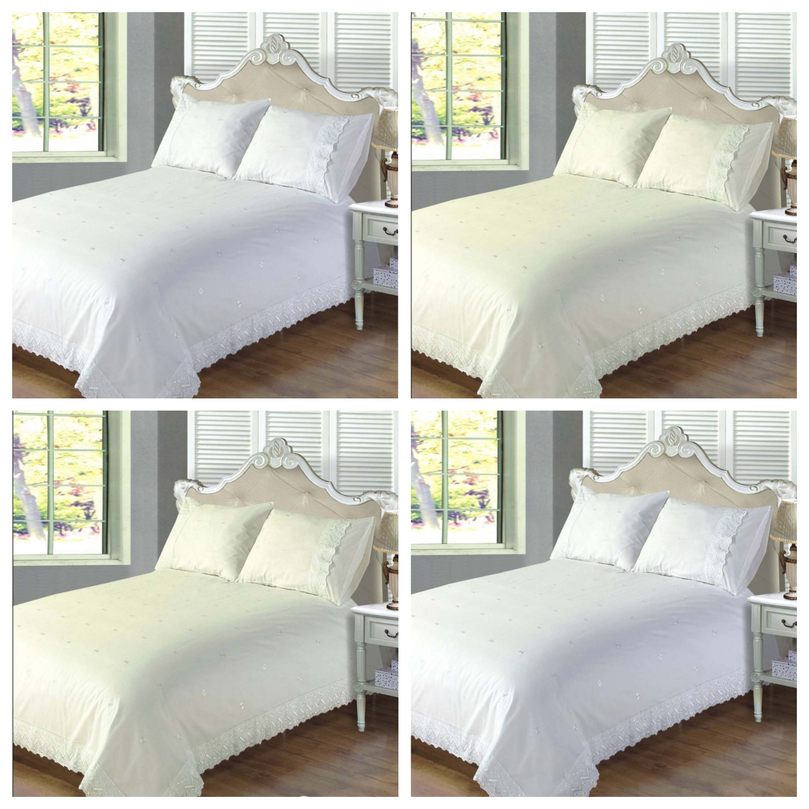 VICTORIA Broderie Anglaise Duvet Covers Bedding Heaven® Embroidered