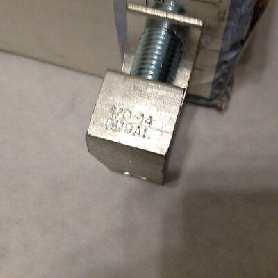 New Burndy Bgbl-1/0 Aluminum Lay-In Lug, Tin Plated St.socket Screw 2