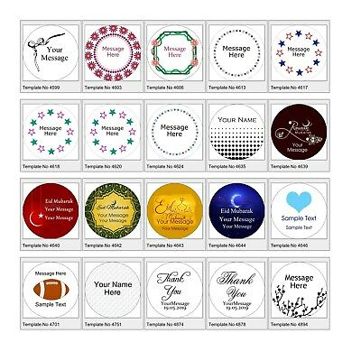 Personalised 37mm Stickers Business/Company Name Round Circle Labels custom logo 7