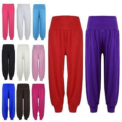 Kids Girls Ali Baba Harem Trouser Plain Color Fashion Trendy Leggings 2-13 Years 2