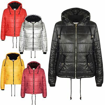Girls Jacket Kids Bella High Shine Hooded Padded Quilted Puffer Jackets 5-13 Yrs 2