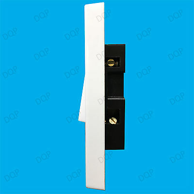 1 Gang 1 Way 10A White Architrave Light Rocker Wall Switch BS60669-1 Compliant