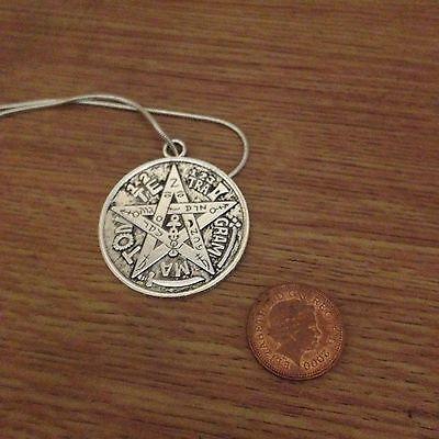 Saint michael tetragrammaton necklace and pendant antique silver 2 of 6 saint michael tetragrammaton necklace and pendant antique silver style pentagram aloadofball Images