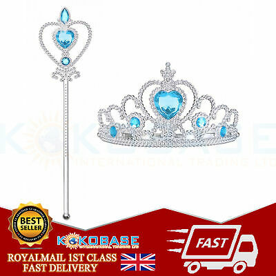 Vicloon Ice Princess Elsa Accessories Set  Tiara Crown and Magic Wand Girls Gift 2
