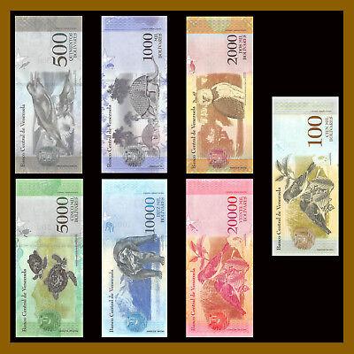 Venezuela 2 -100,000 Bolivares & 2-500 Soberano (21 Pcs Full Set) 2007-2018 Unc 5