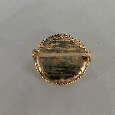 Antike Foto- Brosche aus Gold- Double, original Foto um 1900, Durchmesser 26 mm 4