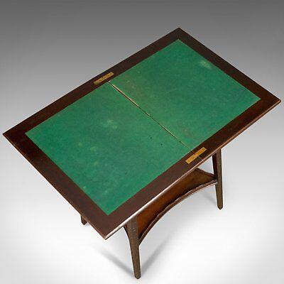Antique Fold-Over Games Table, English, Edwards & Roberts, London Circa 1880 5