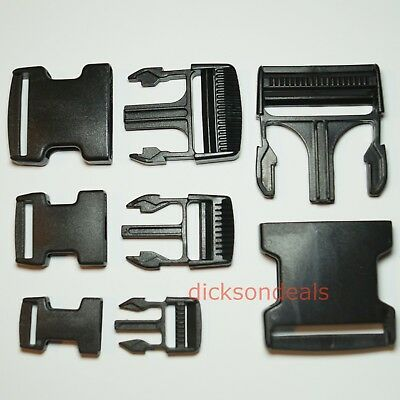 Plastic Delrin Side Release Buckles Clips For Webbing Bags Straps 20mm - 50mm 2