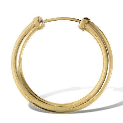 Men/'s 9ct Gold SINGLE heavyweight capped hoop earring 18mm E R J Co