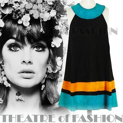 DRESS 60s SUEDE LEATHER VINTAGE OUTSTANDING ART ICONIC RARE LIKE COURRÈGES GOGO 10