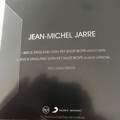 Jean-Michel Jarre With The Pet Shop Boys - Brick England - Uk Cd Promo - Mint 2
