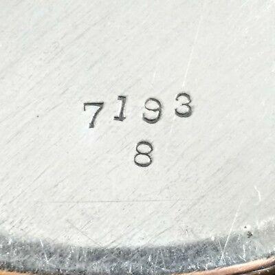 "Antique RARE Sterling Silver Watson Co. Wilcox & Wagoner Pierced 8"" Round Plate 5"