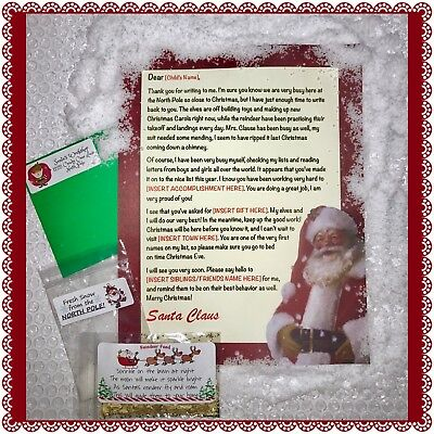 Personalized Letter from Santa Claus - Wax Sealed, Instant Snow, Reindeer Food!