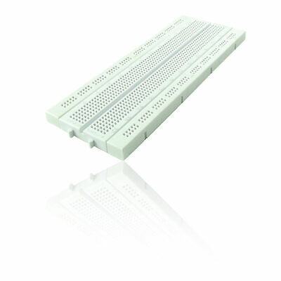 840 Pin Solderless Prototyping Breadboard for use with Rasperry Pi - WHITE 2