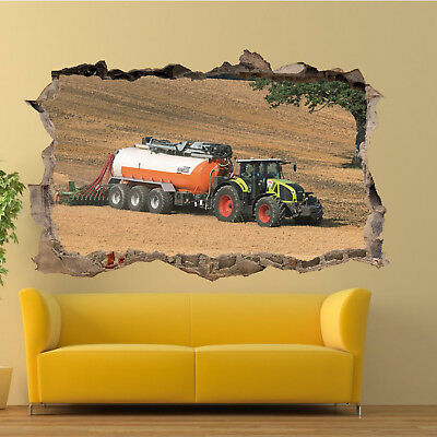 FARMING EQUIPMENT TRACTOR Wall Stickers 3D Art Mural Room Office ...