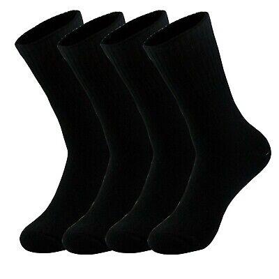 Lots 3-12 Pair Mens Black Crew Athletic Sports Work Cotton Socks Size 9-11 10-13 3