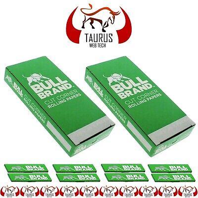 2500x BULL BRAND Tobacco Smoking Cigarette Rolling PAPER Cut Corners G Filter UK 2