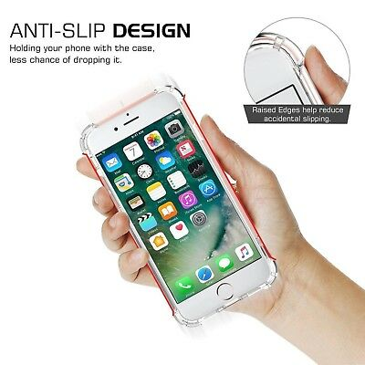 For iPhone XR Case Shock Proof Crystal Clear Soft Silicone Gel Bumper Cover Slim 6