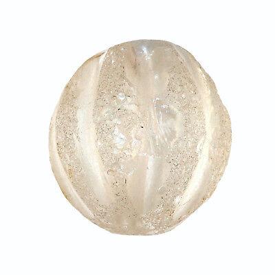 Chinese Rock Crystal Bead Mellon Shaped  -  CHINA    水晶石珠   (0676)