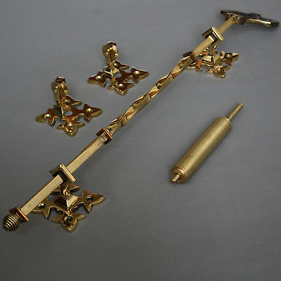 Victorian Inspired Brass Lichfield Bell Pull 7