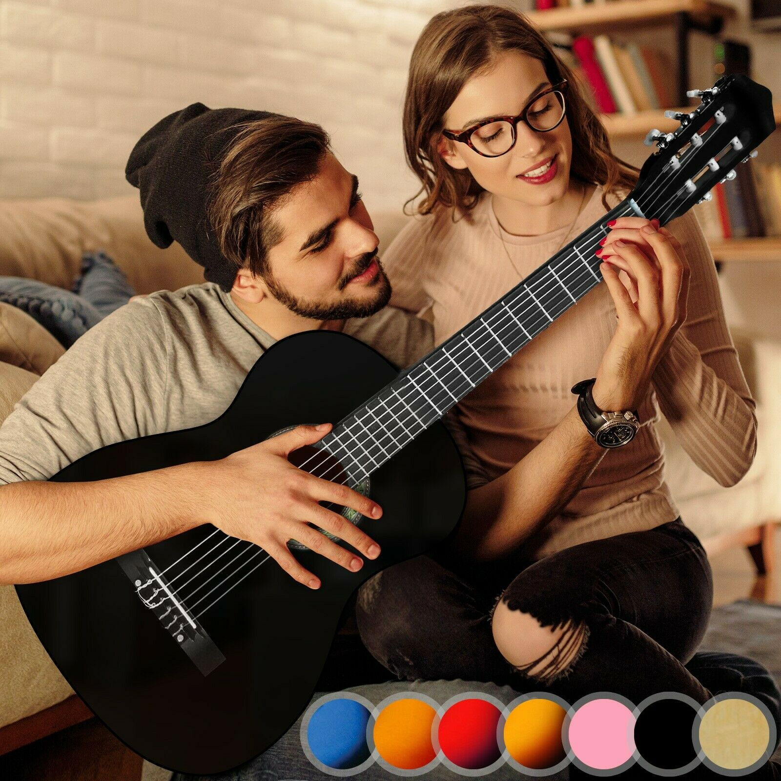 Akustikgitarre Gitarre 4/4 Konzertgitarre Klassikgitarre Westerngitarre 2