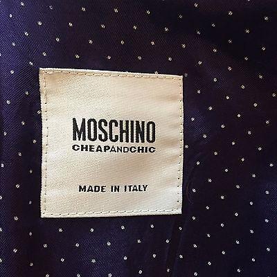 ... Cappotto Moschino Cheap and Chic in lana bouclé viola taglia 40   42 6 b1c418567ef