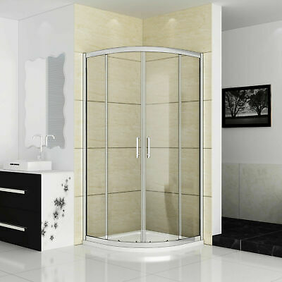 Aica Offset Quadrant Shower Enclosure and Tray Corner Cubicle Glass Door Screen 6