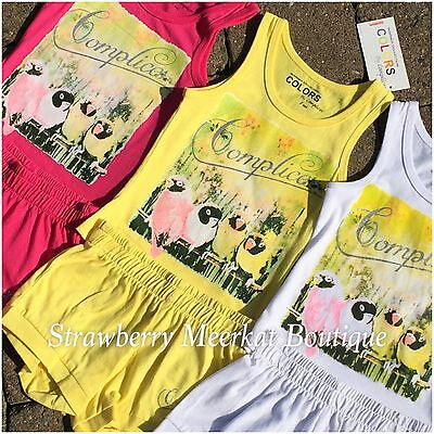 New Girls French Designer Complices Tank Outfit Vest Top Shorts Age 2 3 4 5 6 8 6