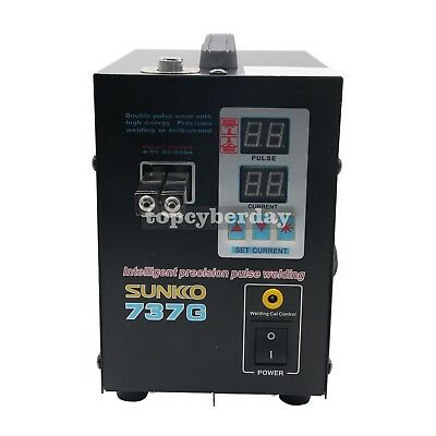 737G Spot Welder 220V 1500W Battery Spot Welding Machine LED Light for 18650 2