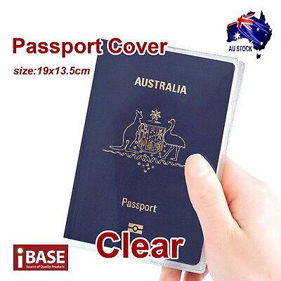 Passport Cover Transparent Protector Travel Clear Holder Organiser Wallet Case 4