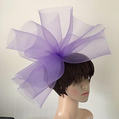 light pale purple lilac fascinator millinery burlesque wedding hat ascot 2