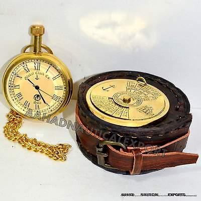 Antique Style Brass Clock Watch Brass With 100 Year Brass Calander Case Gift 4