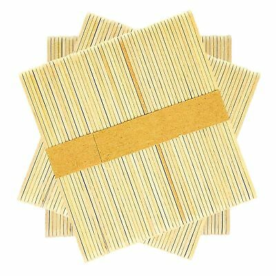 200 100 Wooden Craft Sticks Paddle Pop Popsicle Coffee Stirrers Ice Cream Stick 4