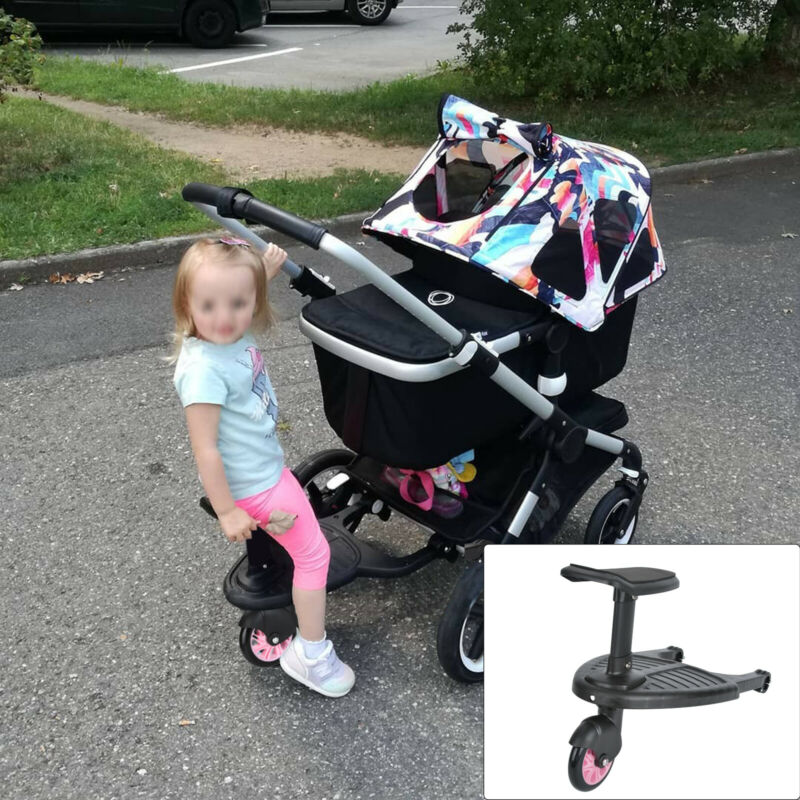 Universal Baby Jogger Travel Pram Pushchair Buggy Board Seat Connectors Strap UK 2