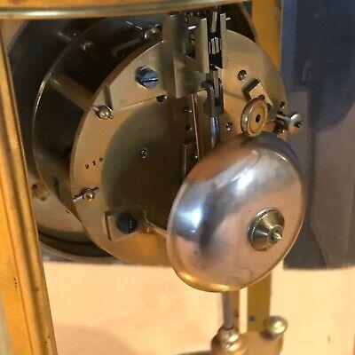 Superb french bevelled glass Japes Frees Victorian gilt framed clock 8