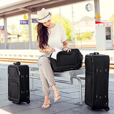 Conjunto de 4 Maletas Viaje Juego Set de maleta bolsa Trolley ruedas Negro Nuevo 3
