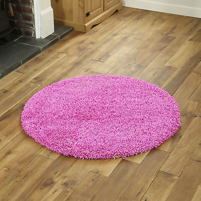 Modern Small Extra Large Pink Colour Thick 5Cm Pile Non-Shed Shaggy Rug Runners 4
