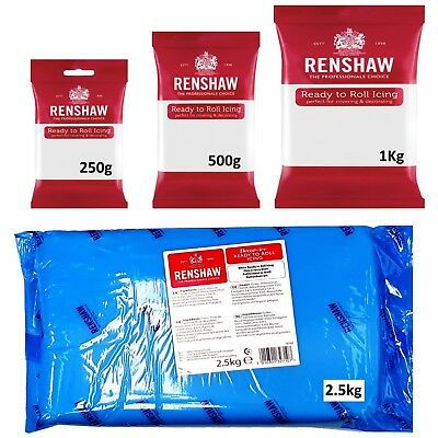 Renshaw Ready To Roll Icing 250g/500g/1Kg/2.5Kg Whole Blocks of Sugarpaste 2