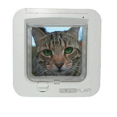 SureFlap Microchip Cat Flap White New 2019 Model Same Size As The Older Model 2