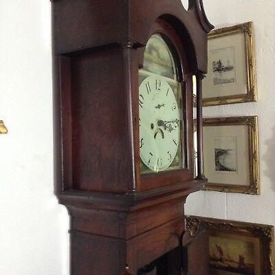 Antique Oak Grandfather Clock 9
