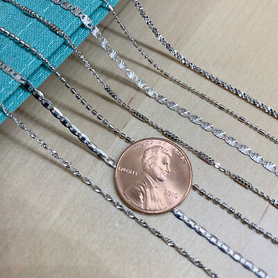 Real SILVER Unique Jewelry SOLID 925 Sterling Silver Chain Necklace Made Italy 2