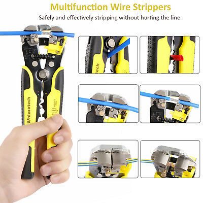 4 In 1 Wire Crimpers Ratcheting Terminal Crimping Pliers Cord End Terminals Tool 12