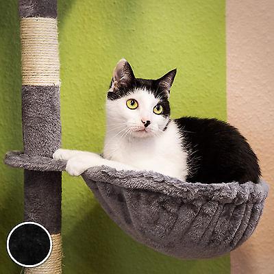 Arbre à chat griffoir grattoir jouet animaux douillet et peluché noir 6