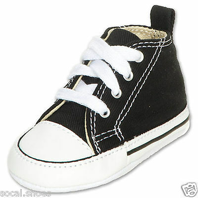 ad57364c9918 ... 1 of 6 Converse Kids Chuck Taylor First Star Core Crib Soft Sole Baby  Shoes Black Pink 3