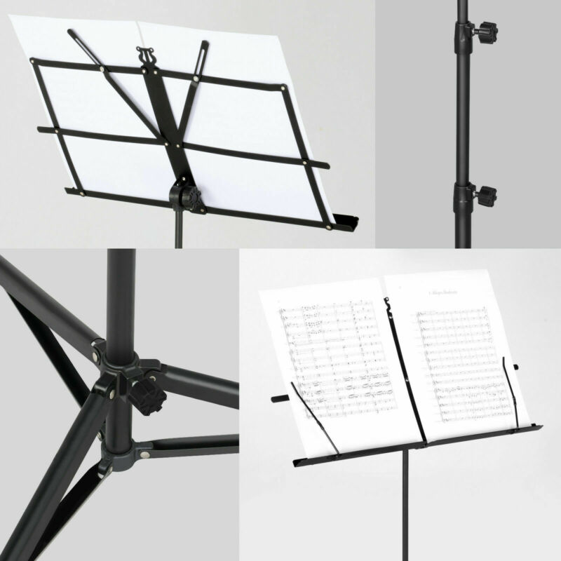 Heavy Duty Foldable Music Stand Holder Base Tripod Orchestral Conductor Sheet Uk 9