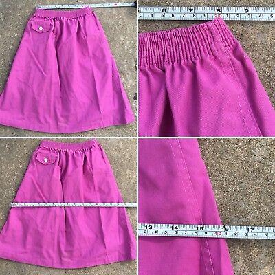 Vintage Kim Stacy Skirt Made In USA 70s 80s Girls 7 Elastic Waist 11
