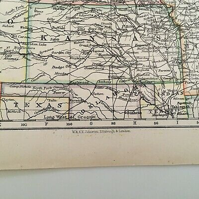 1897 Map Of United States, N.w. And Central Areas 3