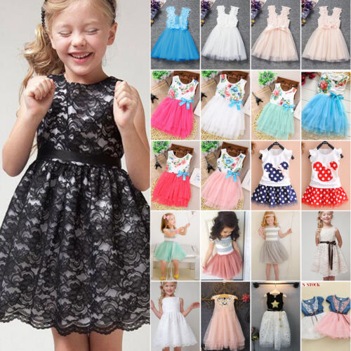 Flower Girl Princess Dress Kids Baby Party Wedding Pageant Tutu Skirts Clothes 2