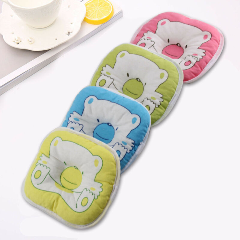 PINK Bear Printed Pillow Newborn Infant Baby Support Cushion Pad Prevent Flat 3